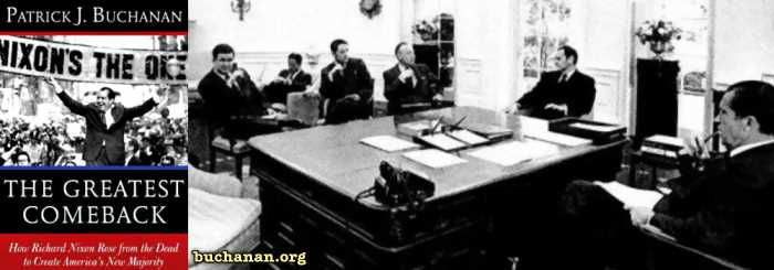 Pat Buchanan in Meeting With Nixon