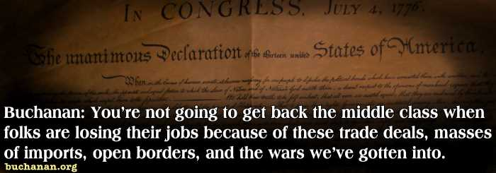 Pat Buchanan: America is Rejecting the GOP's Big Business Wing
