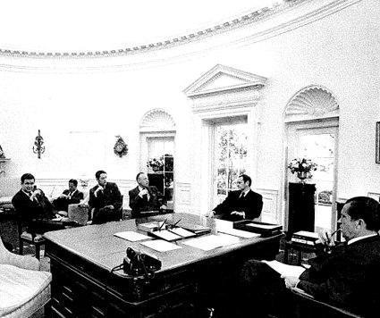 PJB at Nixon Meeting