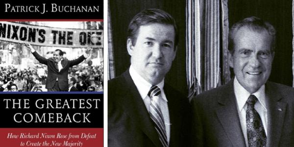 Pat Buchanan and President Nixon